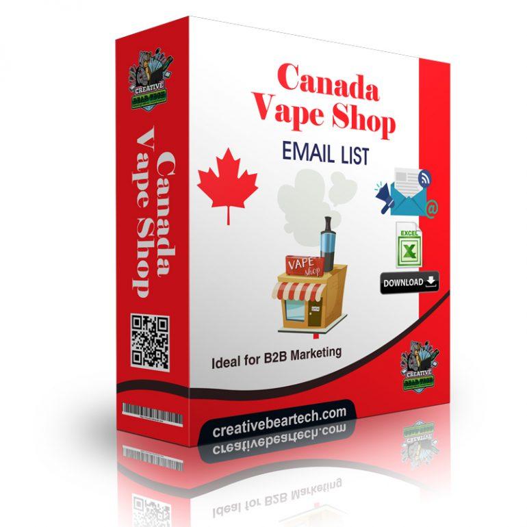 Canada Vape Shop Database - Vape Shop Emails