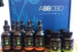 A88CBD CBD Tinctures, CBD Capsules, CBD Gummies, CBD Bath Salts, CBD Body Lotion, CBD Essential Oil, CBD Hydrating Hand + Foot Cream, CBD Lip Balm and CBD Muscle Salve